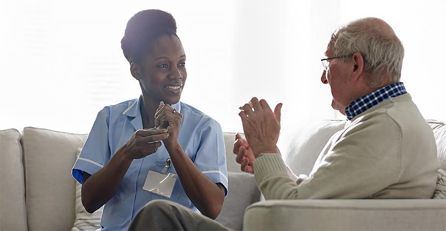 Unabhängige Lebensführung für gehörlose Menschen im Alter